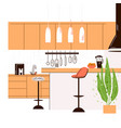 flat modern kitchen vector image