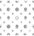 globe icons pattern seamless white background vector image vector image