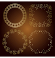 gold frames - roses and vintage vector image