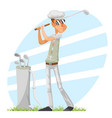 golfer cool professional player adjusts glove vector image