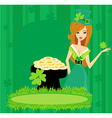 Greeting card for the holiday St Patricks Day vector image vector image