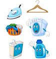 Happy cartoon laundry vector image