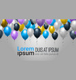 holiday web decoration with balloons for party vector image
