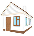 house with brown door vector image vector image