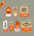 label paper brown and orange concept vector image