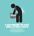 Man Injuring His Back Symbol vector image vector image