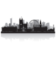 Manchester city skyline silhouette vector image vector image