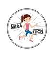 marathon competition design vector image vector image