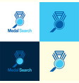 medal search logo and icon vector image vector image