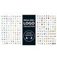 mega logo collection vector image
