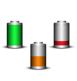 Modern battery fully charger half charged vector image vector image