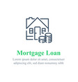 mortgage loan payment concept vector image
