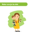 Mother cares for the child vector image vector image