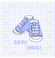of a pair blue shoes vector image
