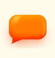 orange glossy speech bubble social vector image vector image