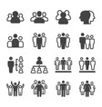 people and group icon set vector image vector image