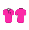 pink polo t shirt vector image vector image