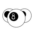 Pool eight ball icon image