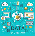 poster for internet data protection vector image vector image