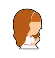 Pray girl kid religion icon vector image vector image