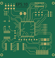 printed circuit board background vector image vector image