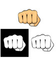 punch hit shock blow strike fist isolated icon vector image vector image