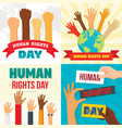 rights day banner set flat style vector image vector image