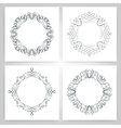 round calligraphic frame monogram vector image vector image