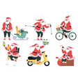 santa claus delivery cute character vector image