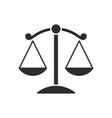 scales justice flat icon for apps and websites vector image