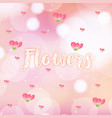 seamless background with pink flowers vector image