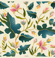 seamless pattern with beautiful fantastic plants vector image vector image