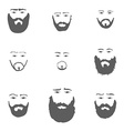 Set of Beard isoated on white background vector image vector image