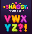 shaggy font 4 set vector image vector image