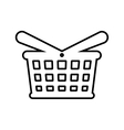 shopping basket store commerce icon vector image vector image
