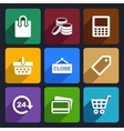 Shopping Flat Icons Set 36 vector image