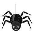 Spider icon gray monochrome style vector image