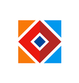 square abstract color construction logo vector image vector image
