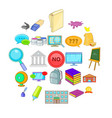 student icons set cartoon style vector image vector image