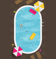 summer pool flat design style vector image