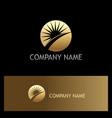 sun rise solar gold logo vector image vector image