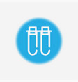 test tube icon sign symbol vector image