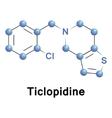 Ticlopidine molecular structure vector image vector image