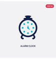 two color alarm clock icon from education 2 vector image