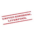 United Kingdom Liverpool Watermark Stamp vector image vector image
