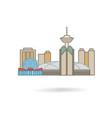 vancouver canada city silhouette icon vector image vector image