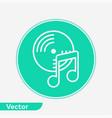 vinyl icon sign symbol vector image