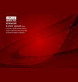 wave red color abstract background with copy vector image vector image
