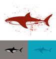 White shark logo vector image vector image