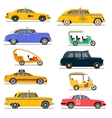 World famous taxi cars set vector image